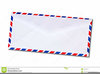 Air Mail Envelope Clipart Image
