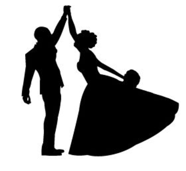 capture bride and groom free images at clker com Bride and Groom Silhouette Outline Funny Bride and Groom Silhouette