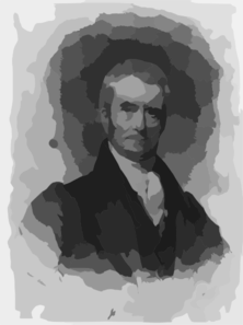 John Marshall - Chief Of Justice Clip Art