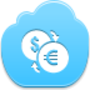 Free Blue Cloud Conversion Of Currency Image