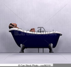 Free Clipart Woman Relaxing Image