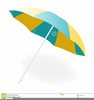 Beach Chair And Umbrella Clipart Image