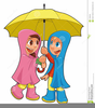Rain And Umbrella Clipart Image