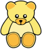 Yellow Cute Teddy Bear Clip Art
