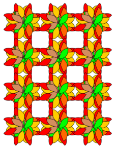 Criss Cross Flower Design Clip Art