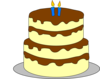 4 Layer Birthday Cake Clip Art