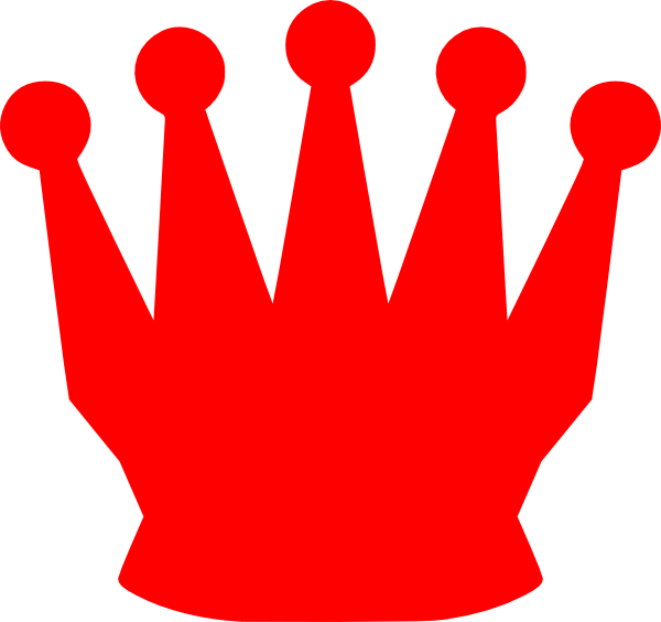 red crown clip art at clkercom vector clip art online