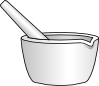 Mortar With Pestle Clip Art