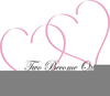 Wedding Entwined Hearts Clipart Image
