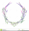 Lavender Wreath Drawing Image