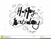 Black And White Happy Birthday Clipart Image