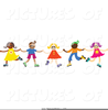 Children Dancing In A Circle Clipart Image