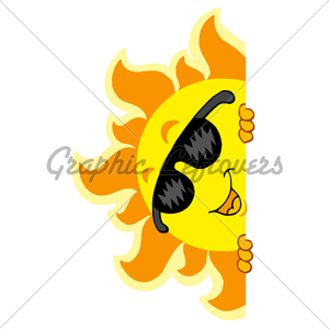 Lurking Sun With Sunglasses Image