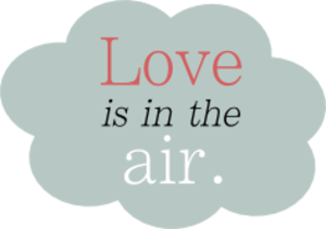 Love Is In The Air Cloud Valentine Image