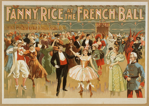 Fanny Rice At The French Ball Image