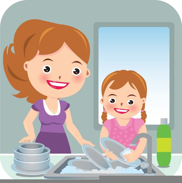 Kids Washing Dishes Clipart Free Images At Clker Com