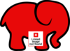 Red Elephant Clip Art