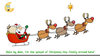 Santa Working Out Clipart Image