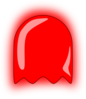 Red Ghost Clip Art