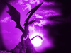 Purple Dragon Flying Fire Image