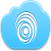 Free Blue Cloud Finger Print Image