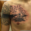 Battleship Chest Tattoos Image