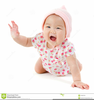 Baby Girl Crawling Clipart Image