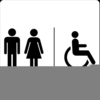 Bathroom Signage Clipart Image