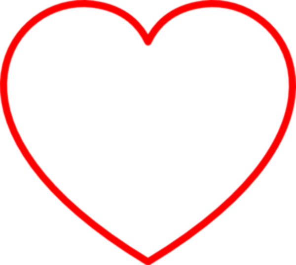 red heart clipart red heart outline md free images at clker com rh clker com free clipart heart outline red heart outline clip art