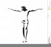 Jesus Christ Black And White Clipart Image
