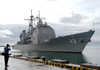 The Guided Missile Cruiser Uss Vincennes (cg 49) Arrives For The Week-long Brunei Phase, Of Exercise Cooperation Afloat Readiness And Training (carat) Image