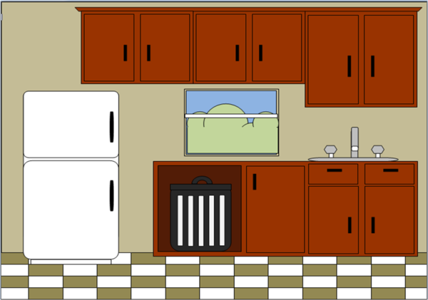 Fabulous Cartoon Kitchen Clip Art 600 x 421 · 25 kB · png
