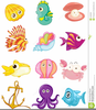 Cartoon Sea Animals Clipart Image