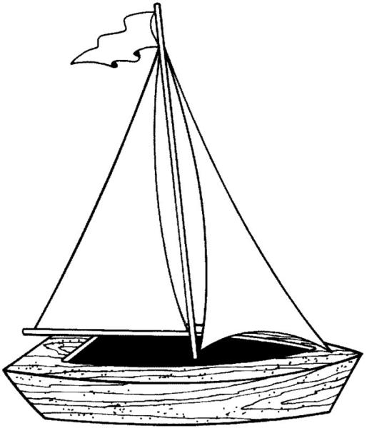 Coloring Boat | Free Images at Clker.com - vector clip art