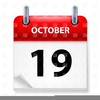 October Calendar Clipart Free Image