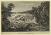 A View Of The Great Cohoes Falls, On The Mohawk River, The Fall About Seventy Feet, The River Near A Quarter Mile Broad Vue De La Grande Cataracte De Cohoes, Sur La Riviere Des Mohawks, La Hateur Est L Environ 70 Pieds, 1 Sa Riviere A Pres L Un Quart De Mile De Large / Sketch D On The Spot By His Excellency Governor Pownal ; Painted By Paul Sandby ; Engraved By Wm. Elliot. Image