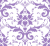 Purple Damask Clip Art