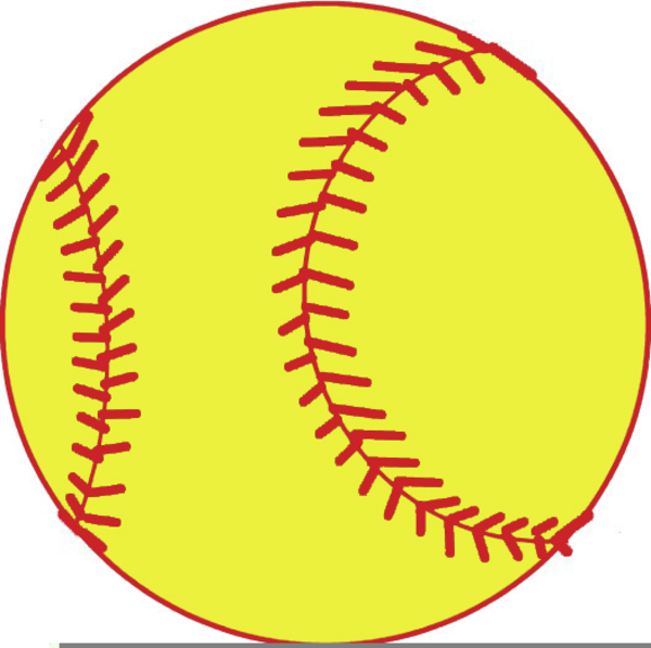 yellow softball free clipart free images at clker com vector rh clker com clip art softball pictures clipart softball bat