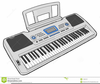 Computer Keyboard Clipart Black And White Image
