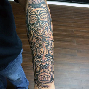 Totem Tattoo Sleeve Free Images At Clkercom Vector Clip