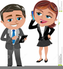 Woman On The Phone Clipart Image