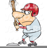 Baseball Players In Clipart Image