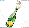 Bottle Champagne Clipart Image