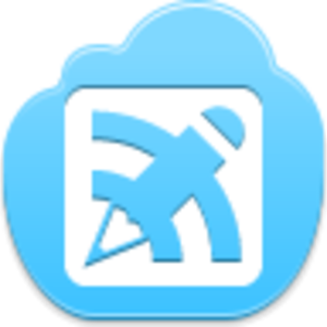 Free Blue Cloud Blog Writing Button Image