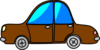 Car Brown Cartoon Transport Clip Art