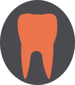 Orange Tooth8 Clip Art