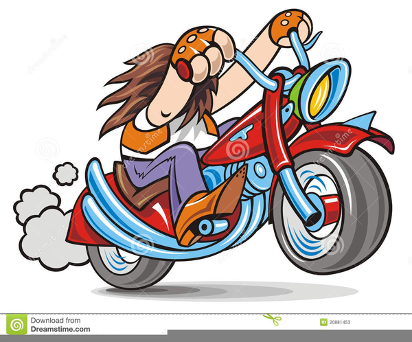 Funny Motorcycle Clipart