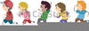 Boy And Girl Running Clipart Image