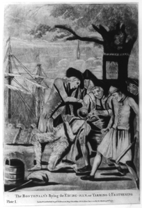 The Bostonian S Paying The Excise-man, Or Tarring & Feathering Image
