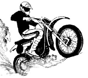 Dirt Bike Clipart Black And White Dirt Bike Tread...